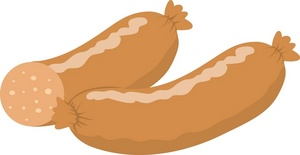 300x155 Free Sausage Clipart Image 0071 0907 0823 3510 Food Clipart