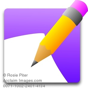 294x300 Clip Art Illustration Of A Pencil And Piece Of Paper