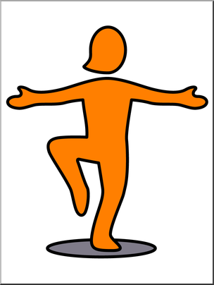 304x404 Clip Art Simple Exercise Standing On One Foot Color I Abcteach