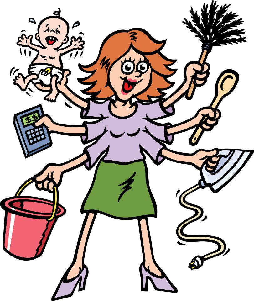 811x960 Crazy Mom Clipart