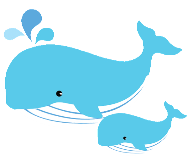 600x512 Mother And Baby Clipart Whale