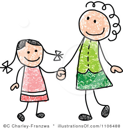 400x420 Photos Mother Daughter Clip Art Images,