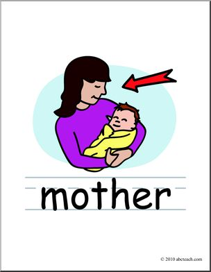 304x392 Clip Art Basic Words Mother Color (Poster) I Abcteach