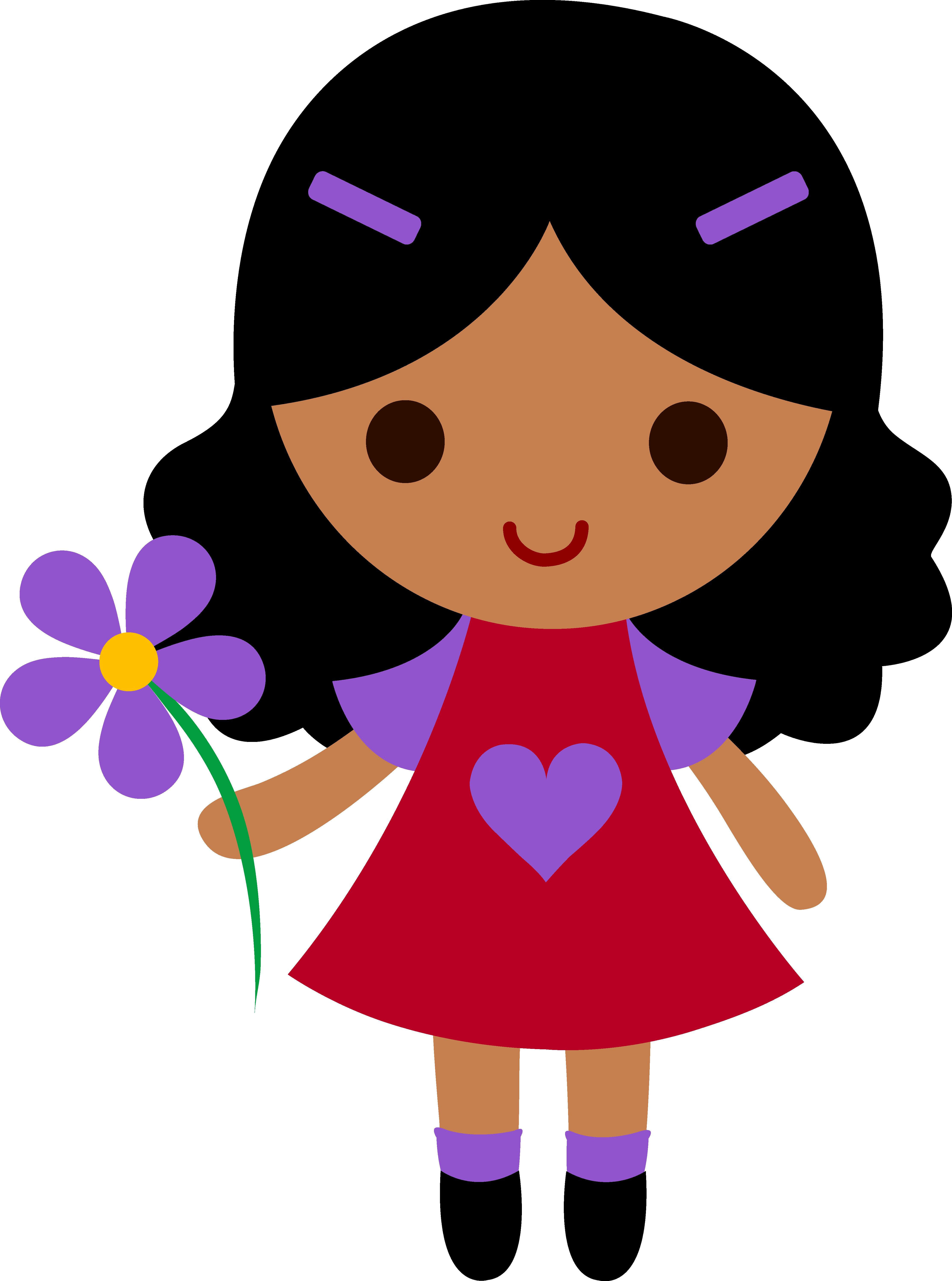 4451x5988 Cute Cartoon Girl Clipart