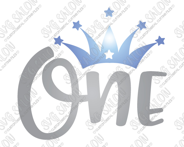 625x500 One Year Old Birthday Star Crown Svg Cut File Set For Girl's Shirts