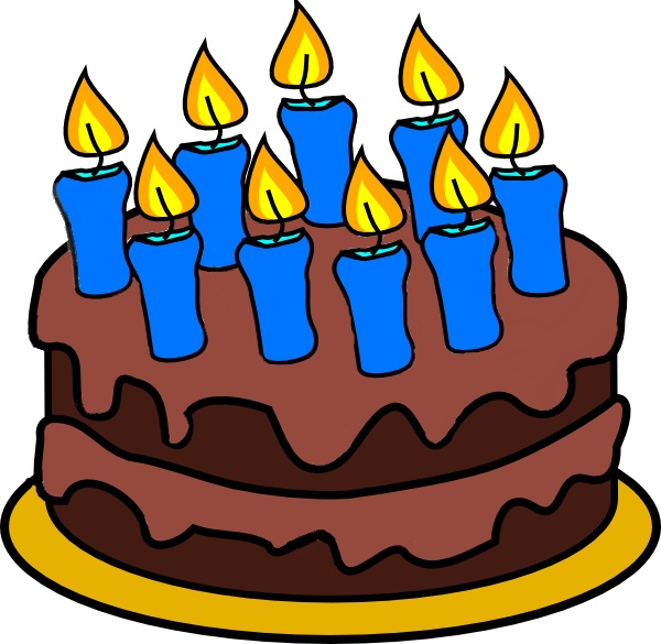 600x585 Cake Clipart 10 Candle