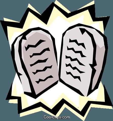 447x480 Ten Commandments Royalty Free Vector Clip Art Illustration