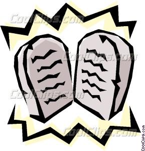 289x300 Ten Commandments Vector Clip Art