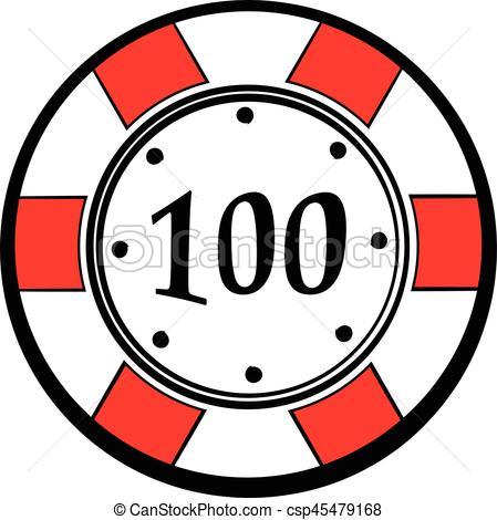 449x470 100 Dollars Casino Chip Icon, Icon Cartoon. 100 Dollars Clip