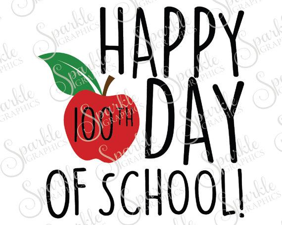 570x456 Happy 100th Day Of School Svg Apple Svg Teacher Gift School