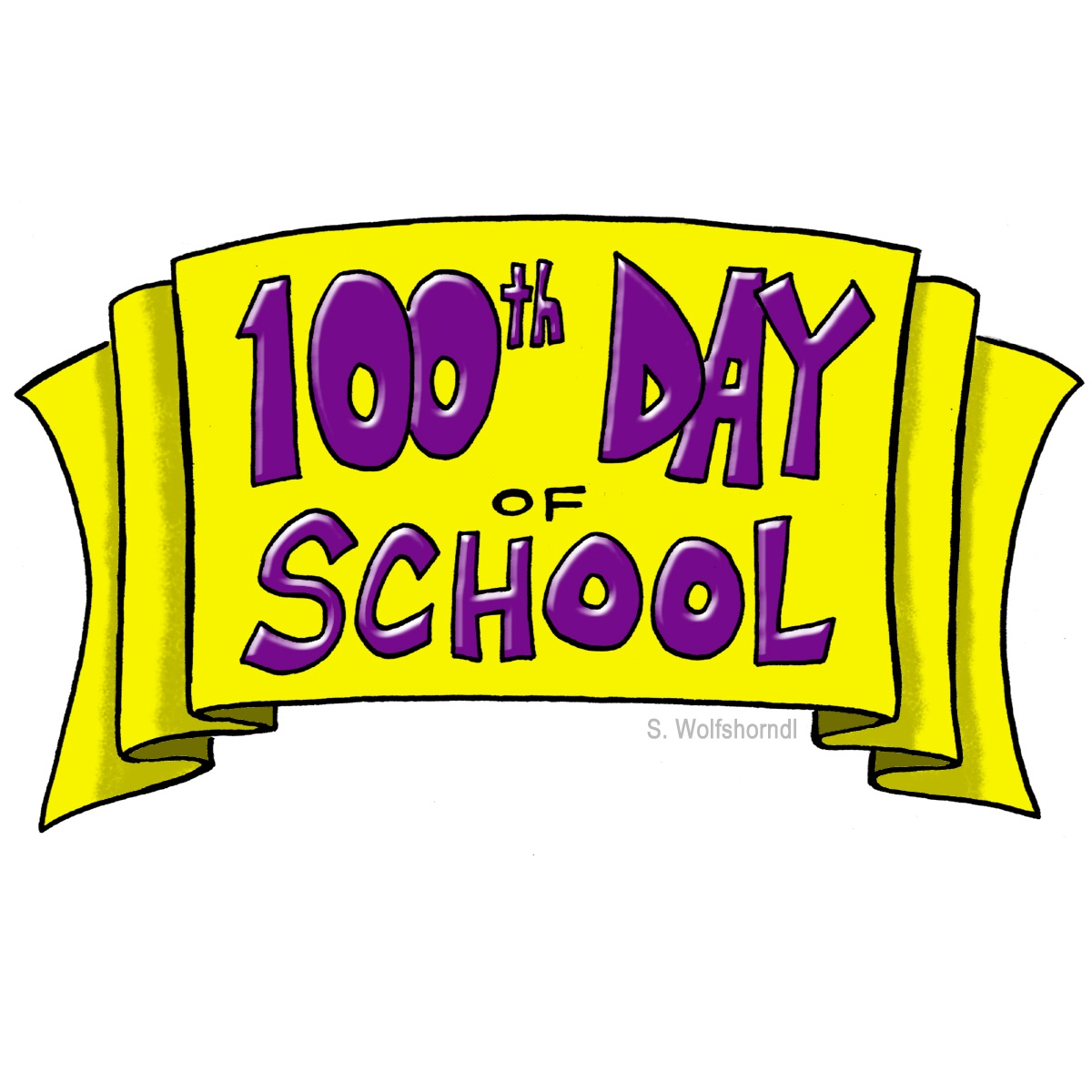 1200x1200 100s Day Clipart