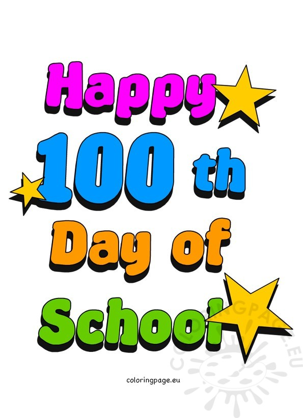595x822 100th Day Of School Clip Art Coloring Page