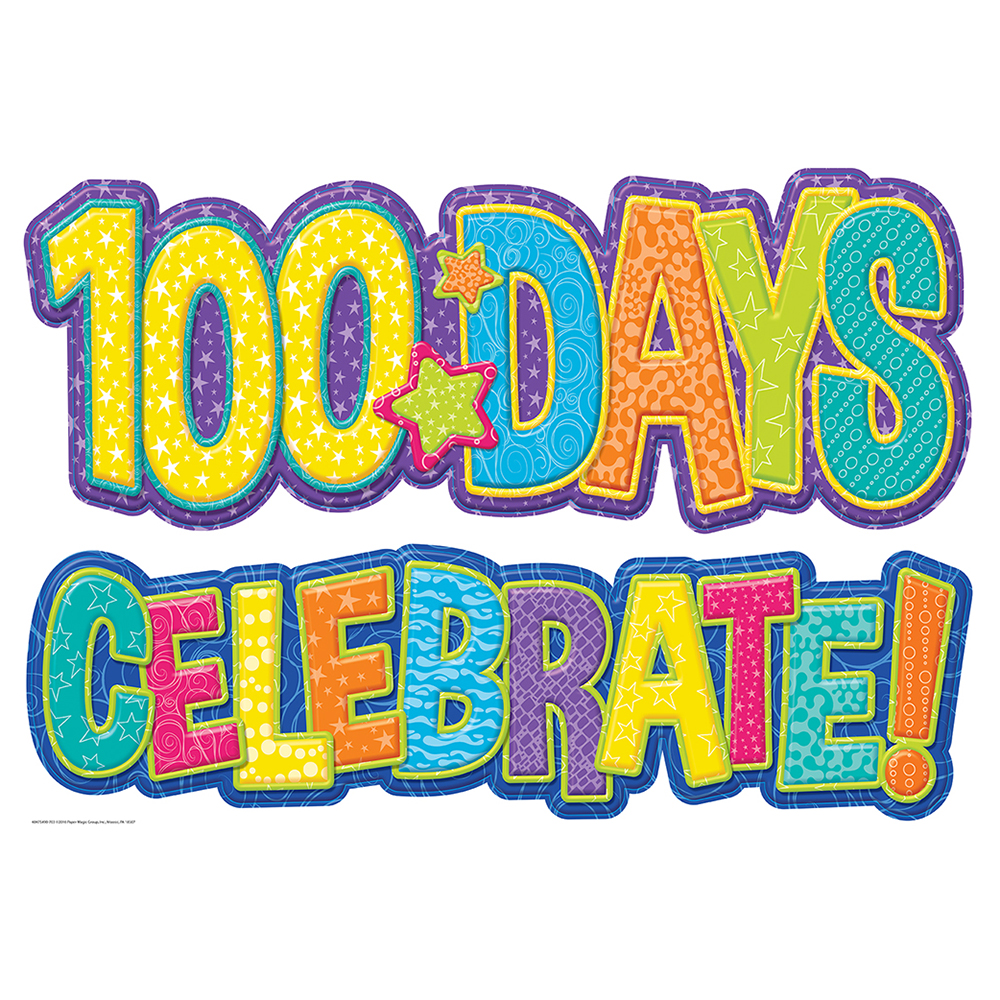 1000x1000 Color My World 100 Days Bulletin Board Set Eureka School