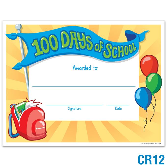 680x680 Product Details 100 Days Of School Certificate Certificates
