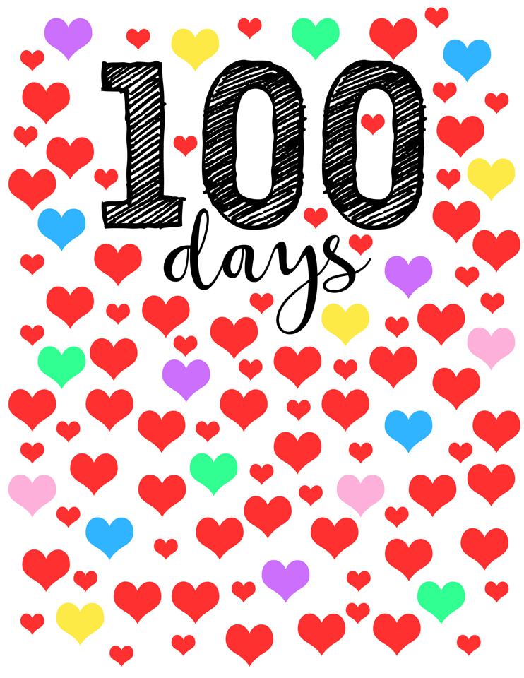 742x960 100 Days Of School Free Download