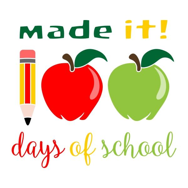 600x600 100 Days Of School Cuttable Design