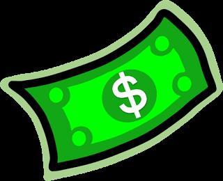 320x260 Dollar Bill Clipart
