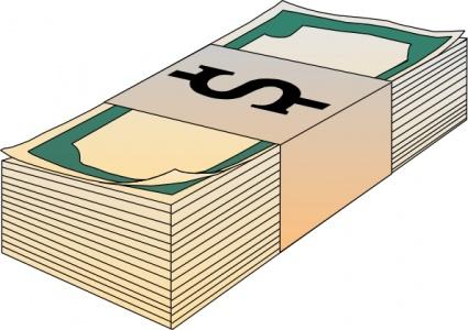 425x300 Hundred Bills Clipart