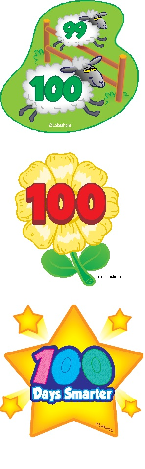 296x958 Free Clip Art Designed Especially For The 100th Day Of School