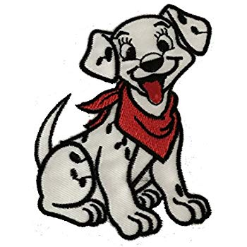 350x350 101 Dalmatians Puppy Dog Iron On Sew On Embroidered Badge Applique