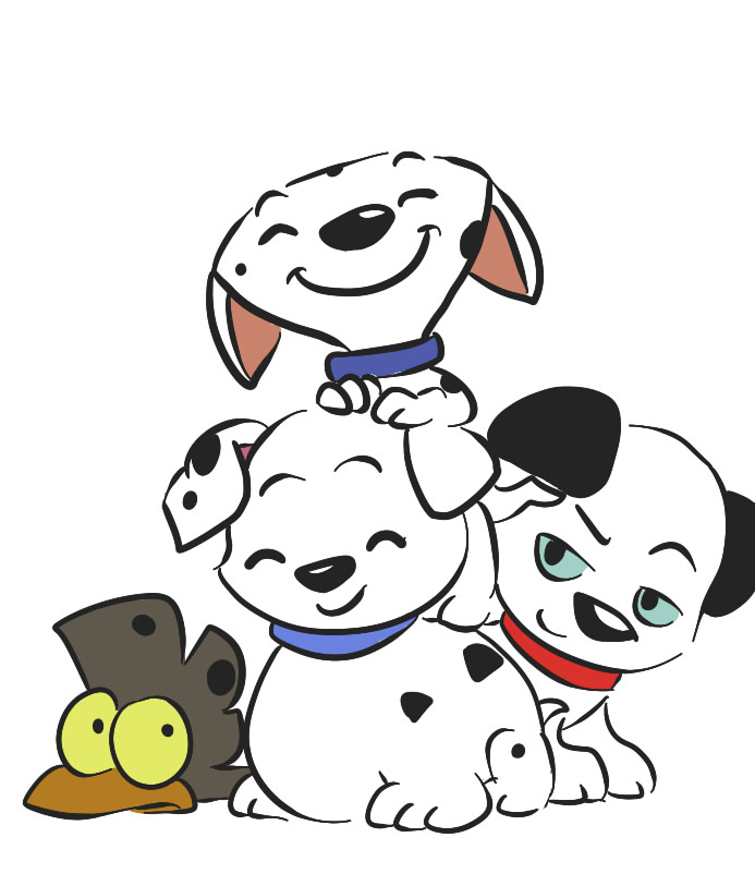 693x802 101 Dalmatians By Leniproduction