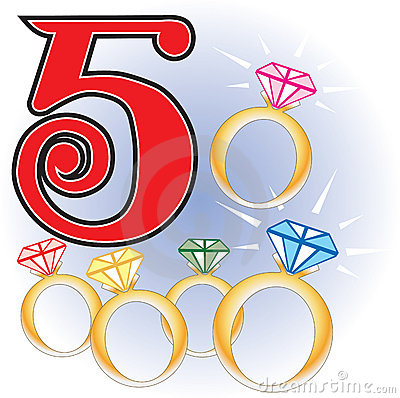 400x398 Five Clipart Golden Ring
