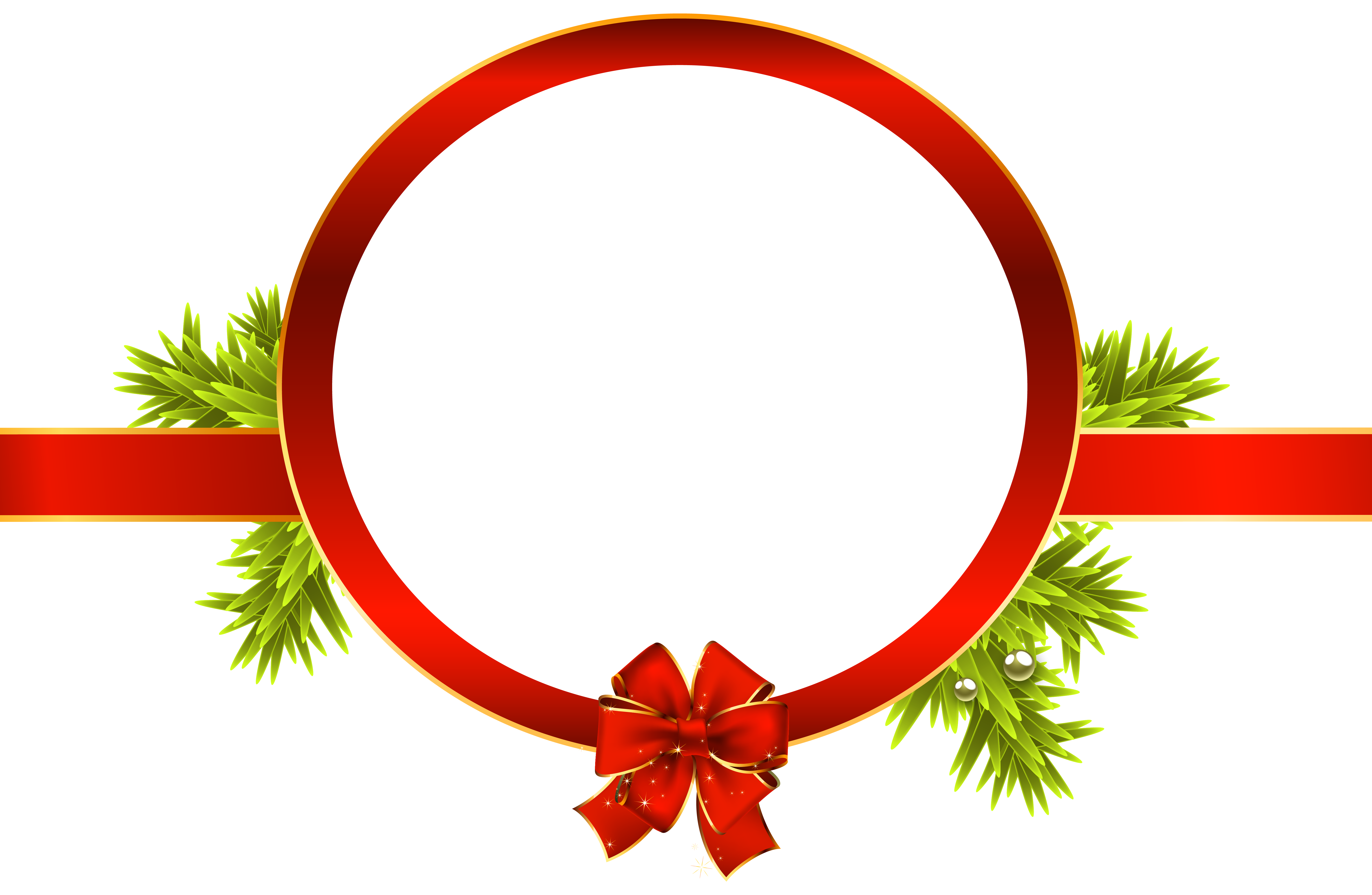 6109x3984 Christmas Clipart Label