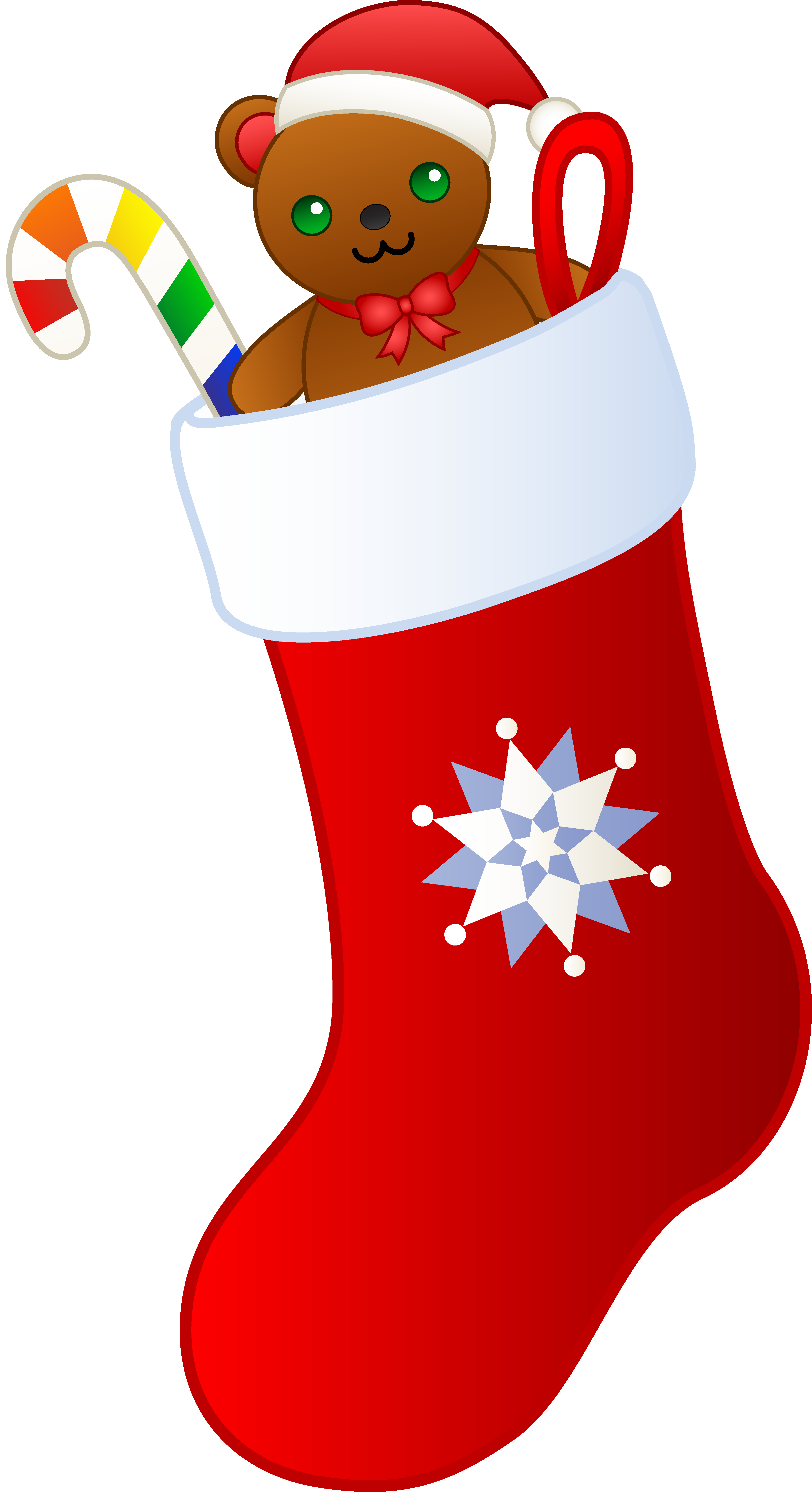 4037x7412 Collection Of Free Clipart Of Christmas Stockings High