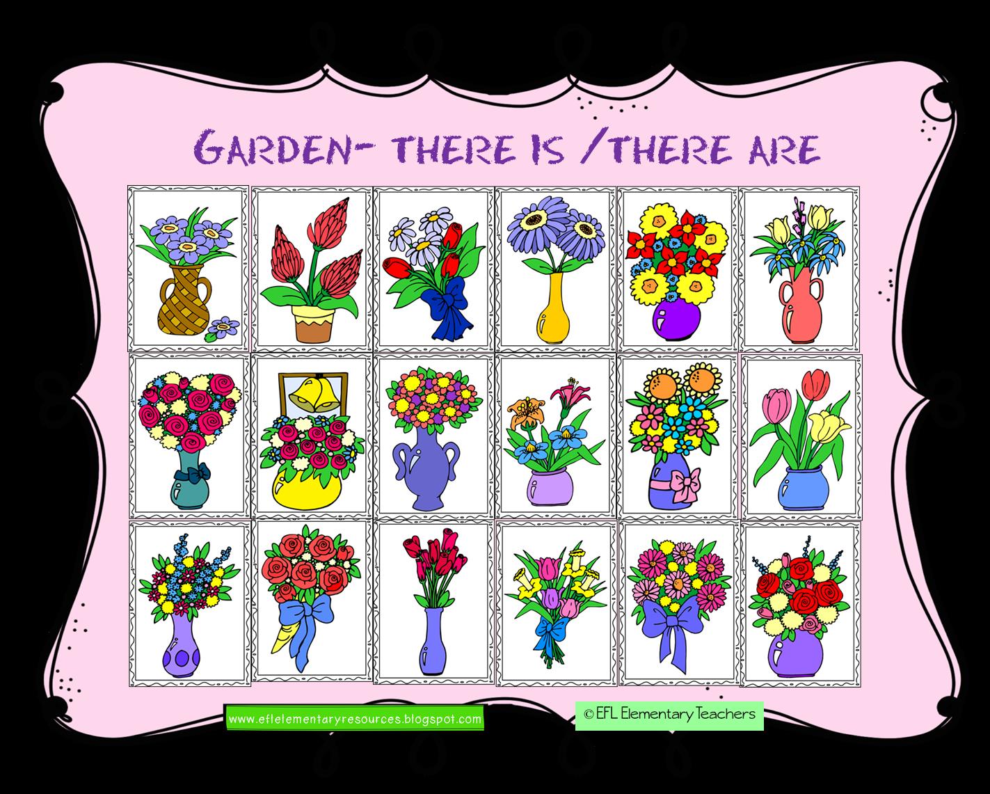 1423x1141 Efl Elementary Teachers Nature Or Garden Theme For Elementary Ell