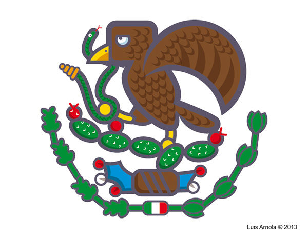 600x464 Collection Of Mexican Flag Eagle Drawing Easy High Quality