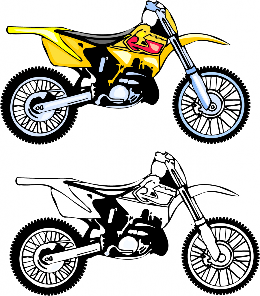 900x1024 Motorcycle Clipart Printable