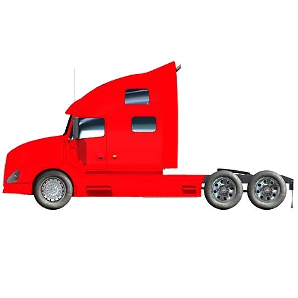 600x600 Freightliner 18 Wheeler Clipart