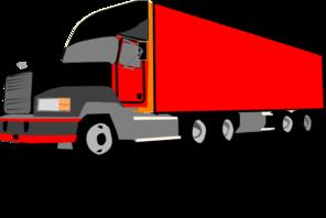 296x198 Truck 18 Wheeler Trucker Clip Art