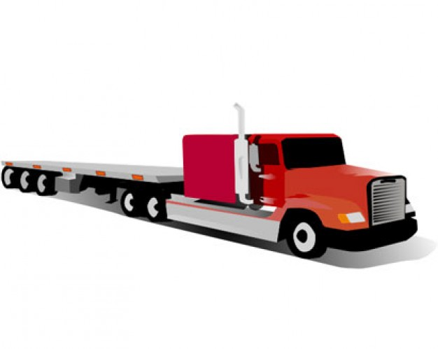 626x499 Truck And Trailer Clipart
