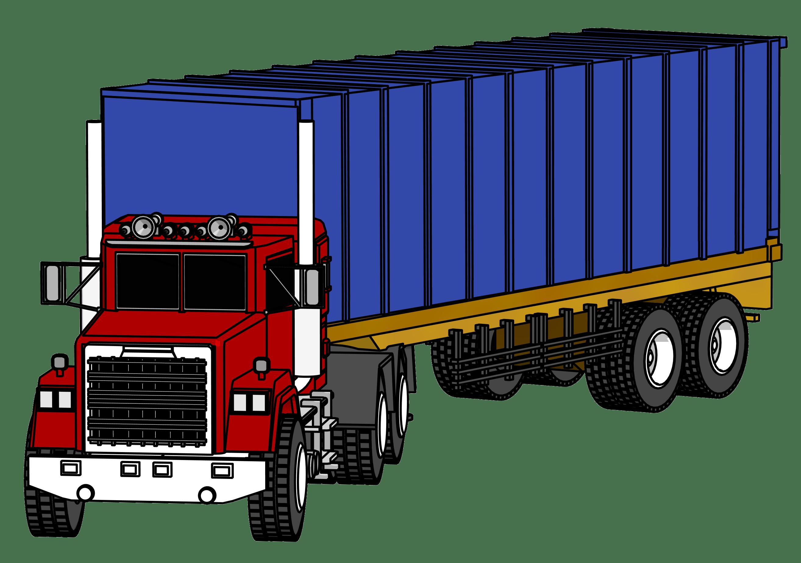 2628x1848 18 Wheeler Truck Clip Art