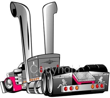 444x394 Cartoon Peterbilt Big Rig Semi Truck Tshirts Semi Trucks