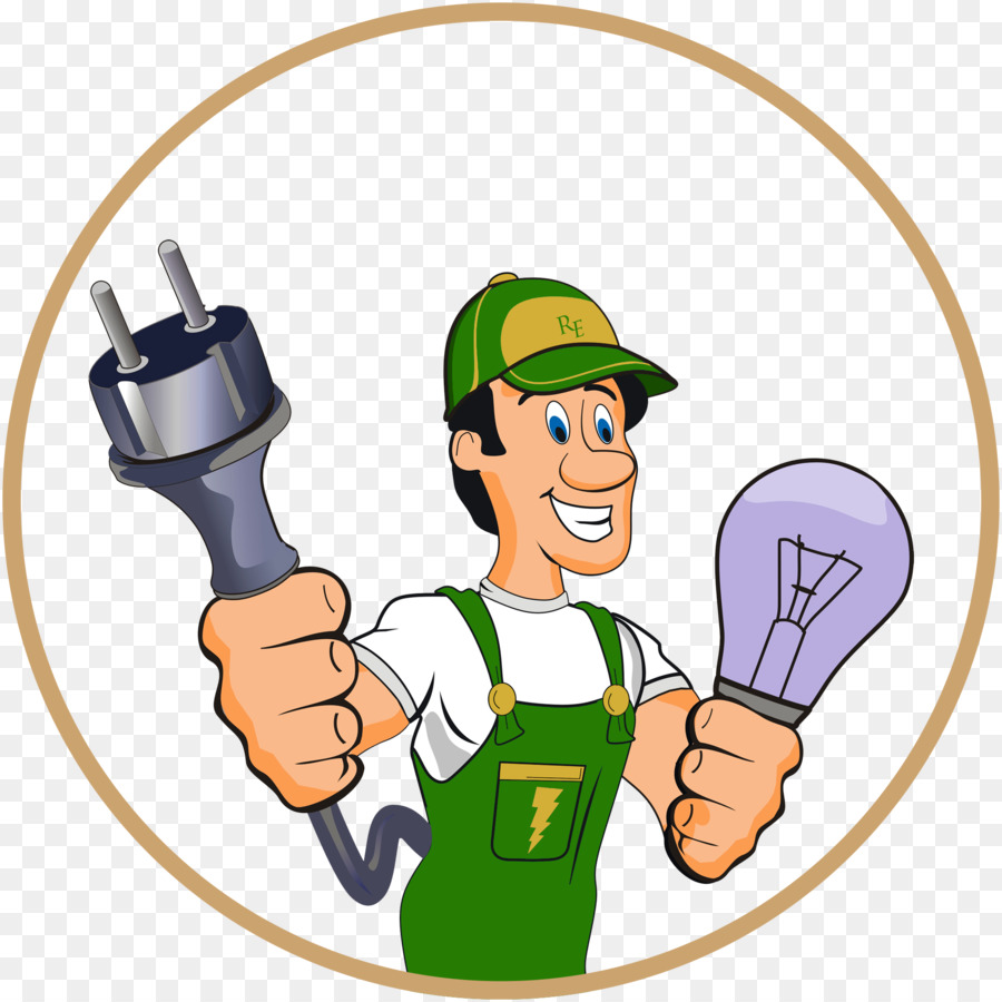 900x900 Electrician Electricity Electrical Contractor Advertising Clip Art