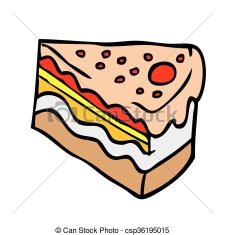 450x470 Piece Of Cake Cartoon Illustration Vector Clip Art