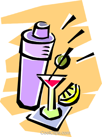 358x480 Cocktail Shaker And Cocktails Royalty Free Vector Clip Art
