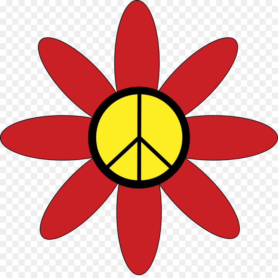 900x900 Hippie Flower Power 1960s Clip Art