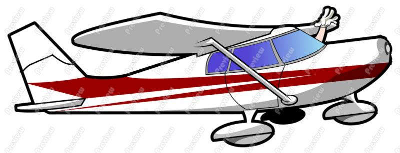 800x307 1960s Airplanes Clipart