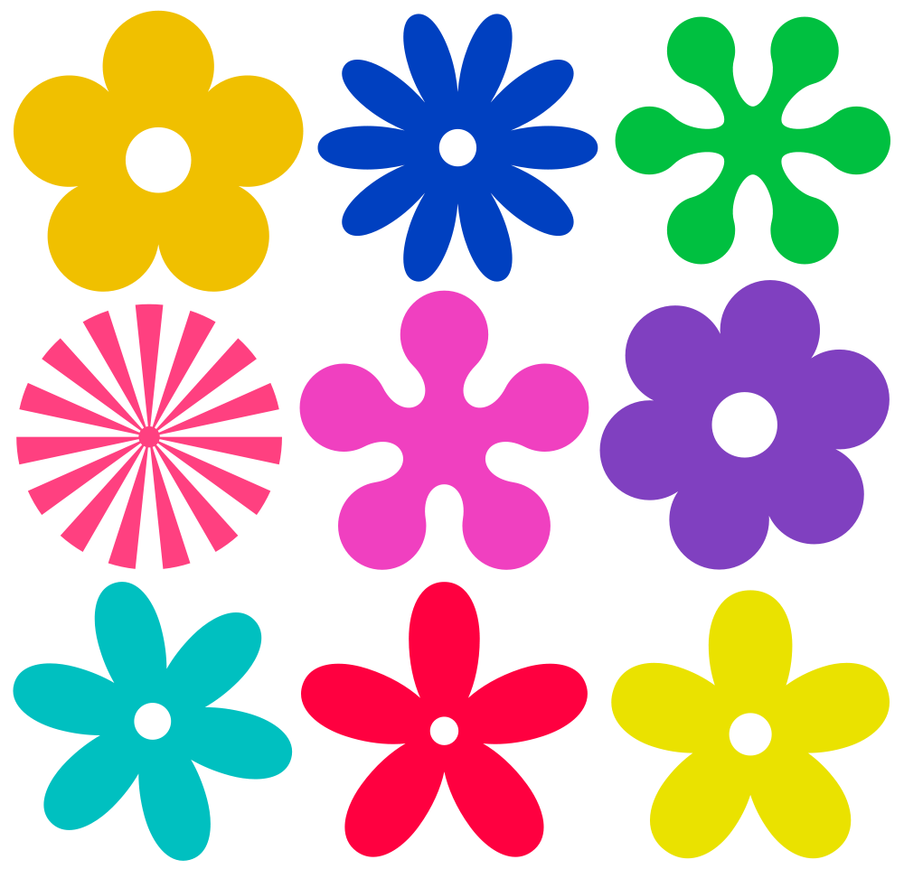 1000x962 Collection Of Hippie Flower Clipart High Quality, Free