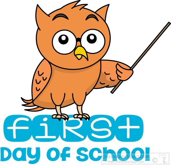 550x536 First Day Of School Clipart School Clipart First Day Of School Owl
