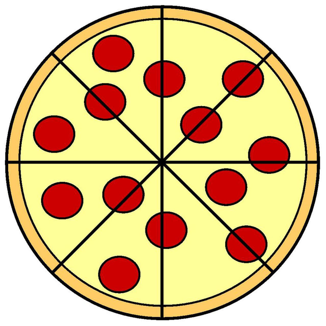 1280x1280 Fraction Pizza Clipart Clipartxtras Fractions Worksheets 1st Grade