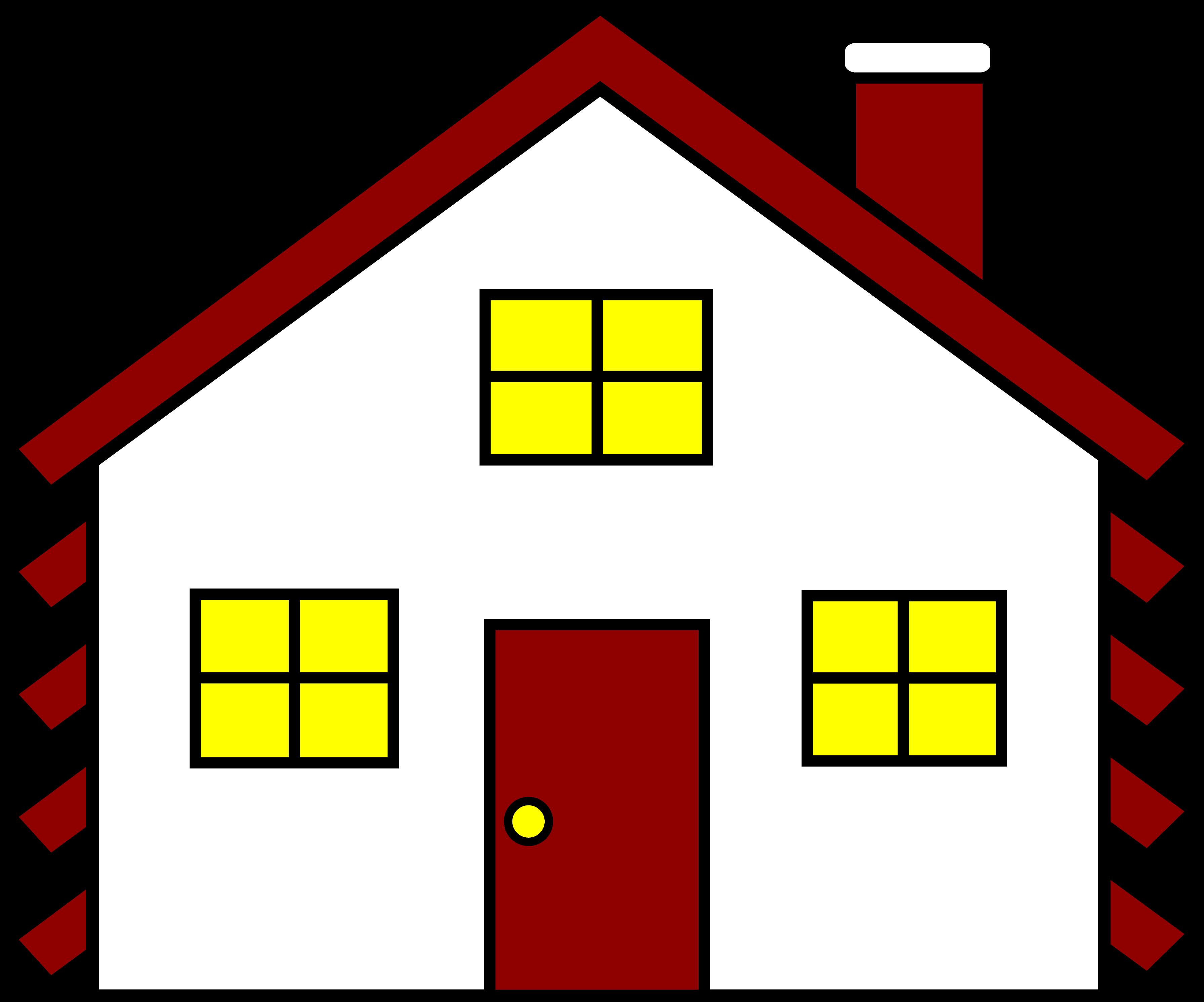 3583x2982 Clip Art Home Clipart 2