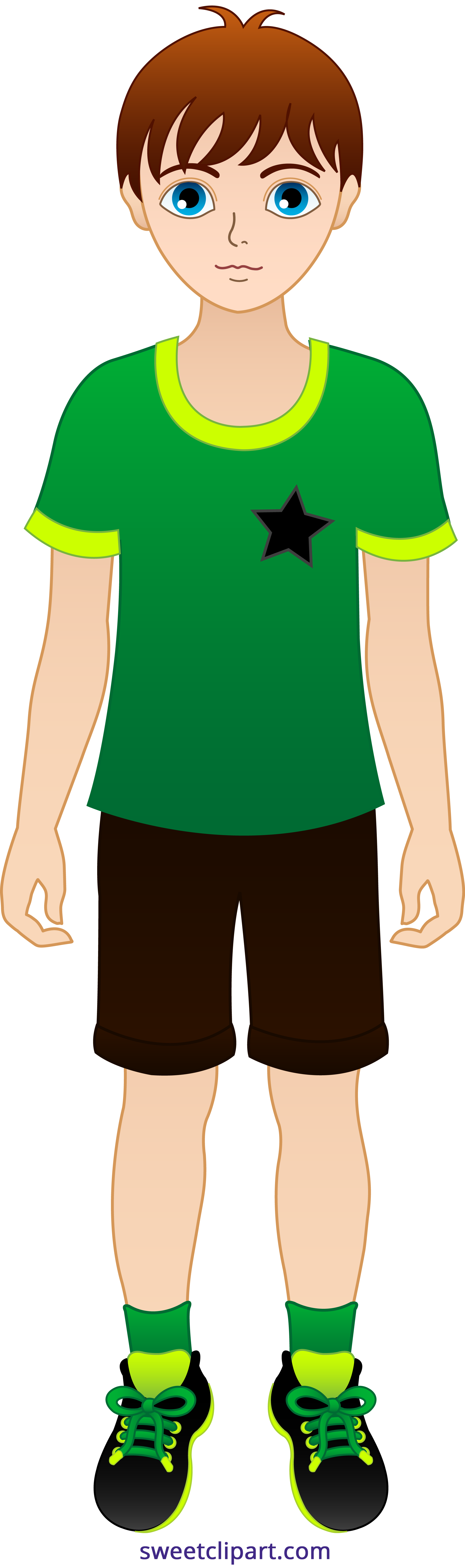 2024x6829 Little Boy With Brown Hair 2 Clipart
