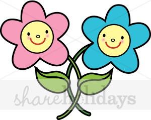 300x239 Smiling Flower Clip Art
