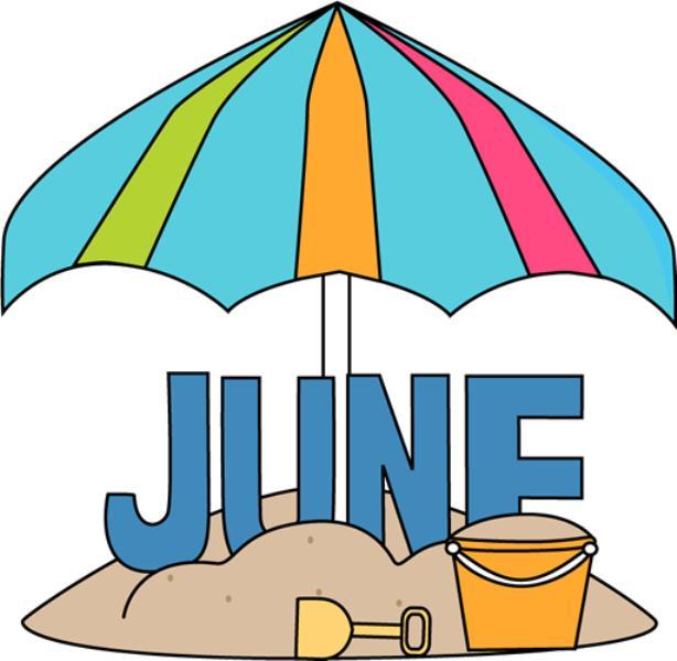 614x600 June Clip Art 2017 Free Printable Calendar