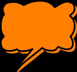 298x279 Orange Callout Clip Art