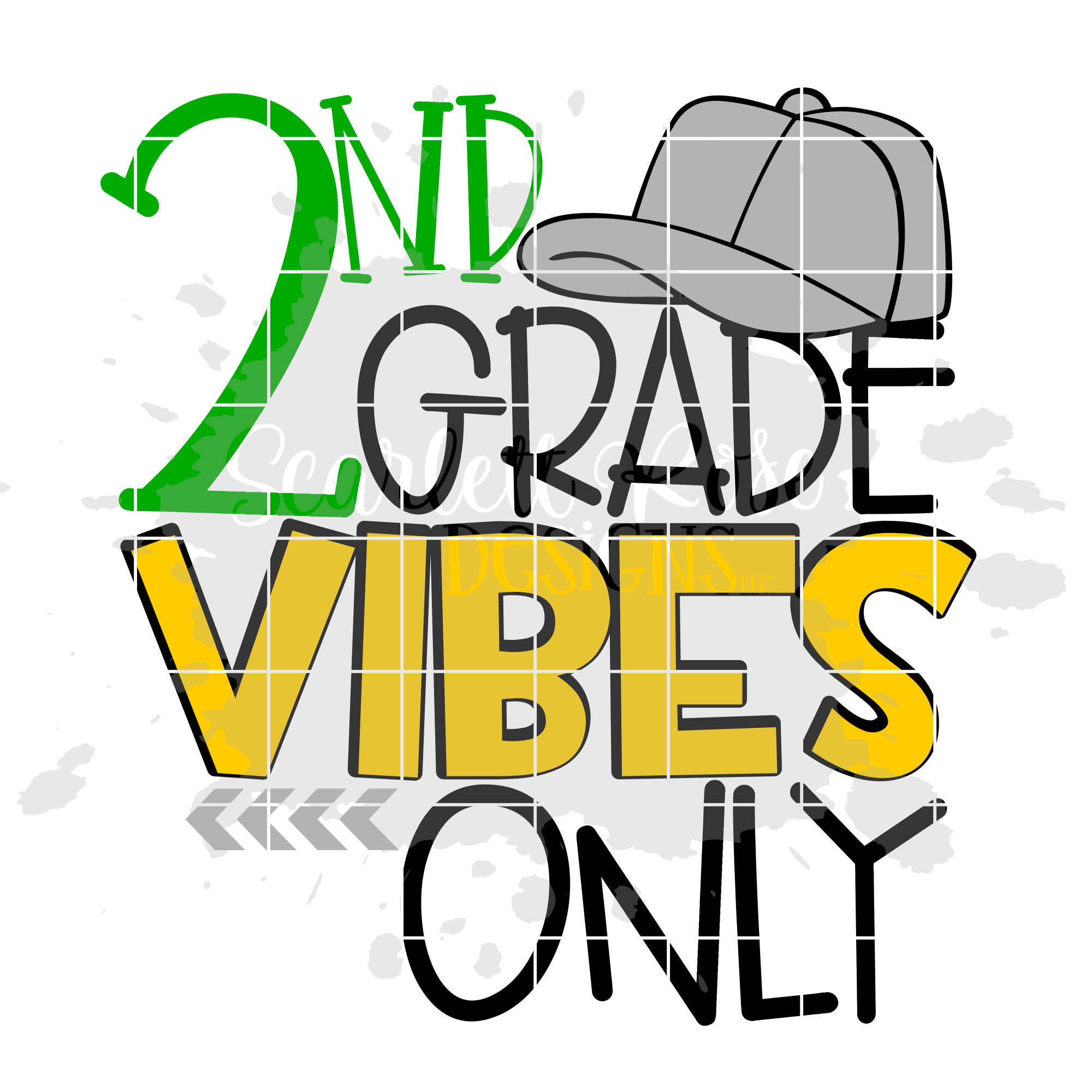 2000x2000 2nd Grade Vibes Only Svg, School Svg Cut File For Cricut And Cameo